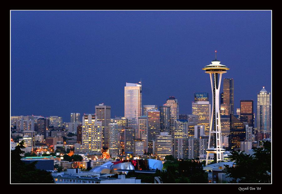 """photo """"Seattle"""" tags: architecture, landscape,"""