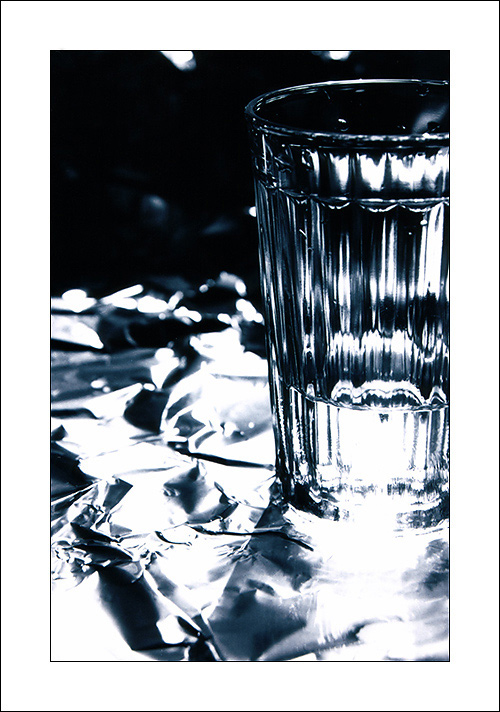 "photo ""The Thirst"" tags: still life, black&white,"
