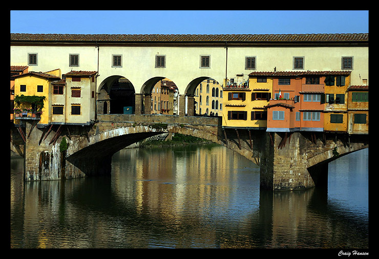 "фото ""Ponte Vecchio"" метки: архитектура, путешествия, пейзаж, Европа"