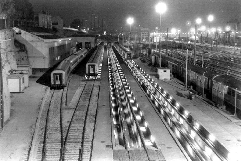 "photo ""Train station"" tags: architecture, black&white, landscape,"