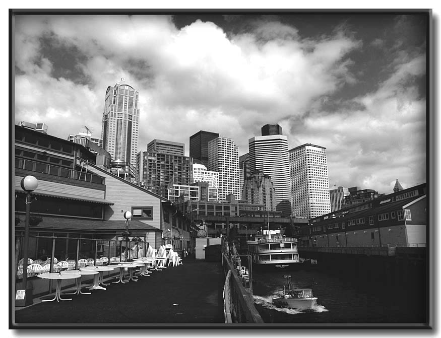 "photo ""Emerald City"" tags: architecture, black&white, landscape,"