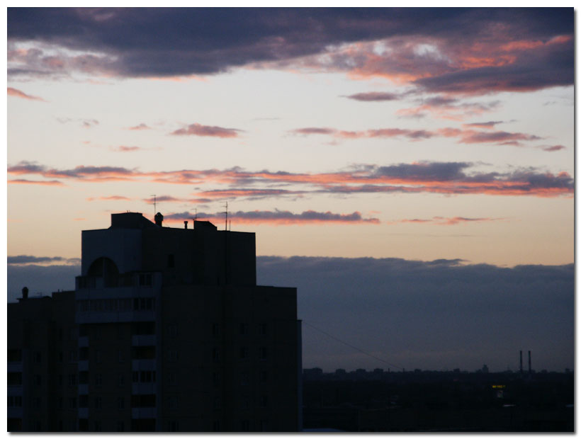 "photo ""Evening"" tags: montage, architecture, landscape,"