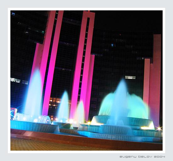 "photo ""colour fountains Tashkent"" tags: architecture, landscape,"