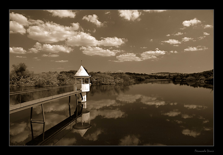 "photo ""Aquatic sentry box"" tags: landscape, clouds, water"
