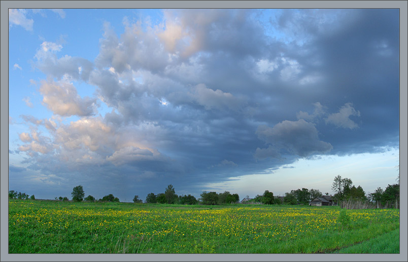 "photo ""Blue and yellow..."" tags: landscape, clouds, sunset"