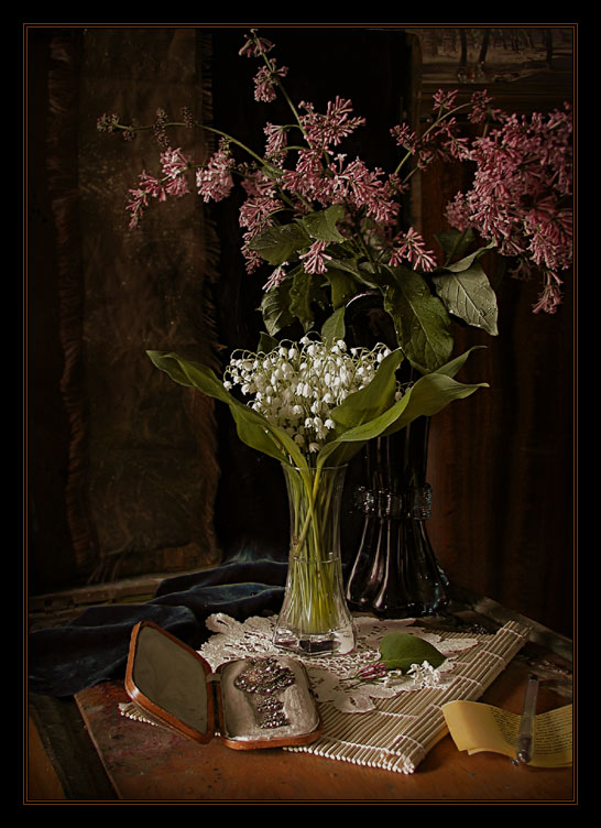 "photo ""Lily of the valley"" tags: still life,"