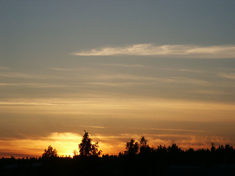 "photo ""Fire of sunset"" tags: landscape, summer, sunset"