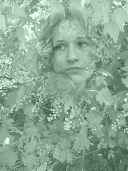 "photo ""The wood fairy"" tags: montage, portrait, woman"