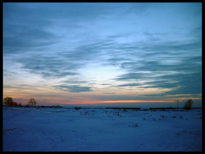 "photo ""At a gulf"" tags: landscape, sunset, winter"