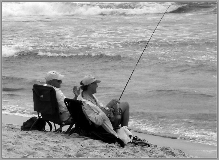 "photo ""Fishing"" tags: black&white,"