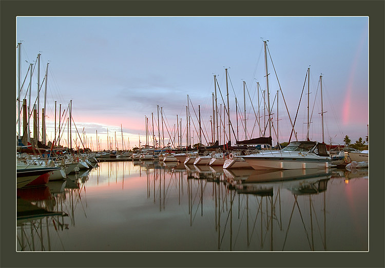 "photo ""Colors and Reflections of Sunset"" tags: landscape, summer, sunset"