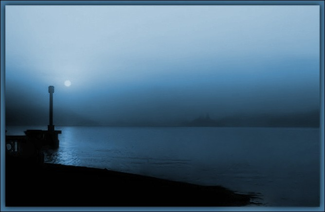 "photo ""Blue mood"" tags: landscape, sunset, water"