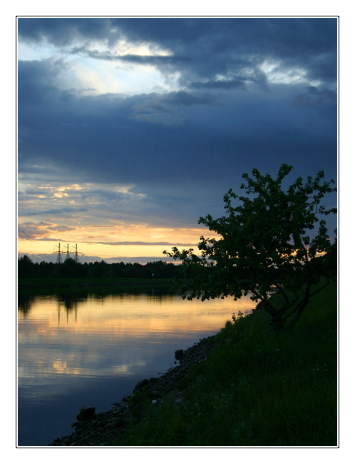 "photo ""Evening on the Volga river"" tags: landscape, summer, sunset"
