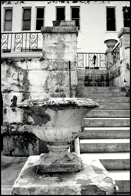 "photo ""Very Old basin:  Augusta, Ga. USA"" tags: black&white, misc.,"