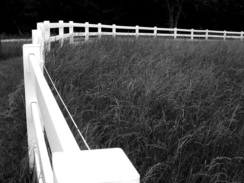 "photo ""White Fence"" tags: black&white, misc.,"