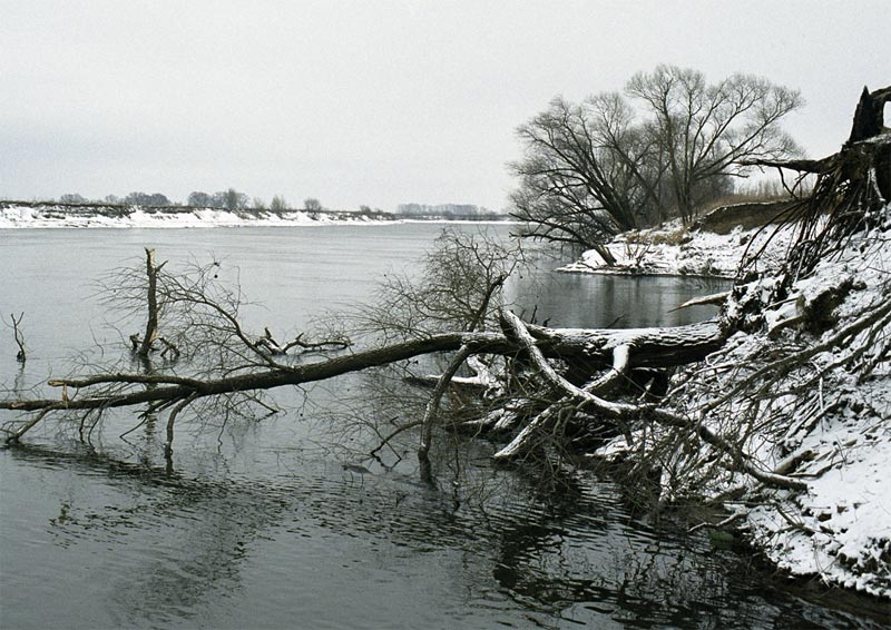 "photo ""The winter has come"" tags: landscape, black&white, water"