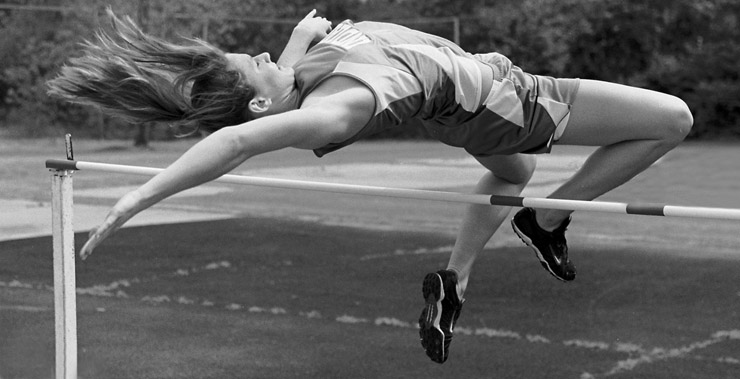 "photo ""Up and over"" tags: black&white, sport,"