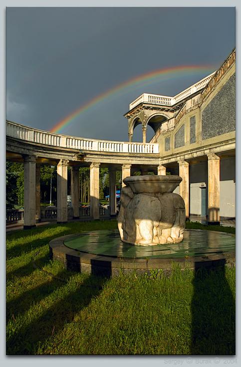 """photo """"After a downpour…"""" tags: architecture, landscape, summer"""