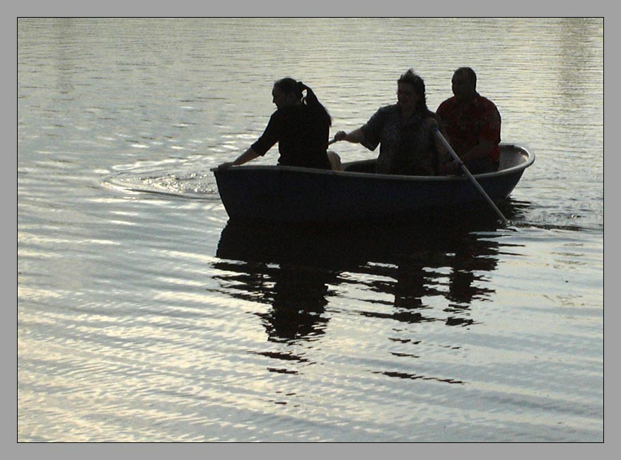 "photo ""Three in a boat"" tags: landscape, summer, water"