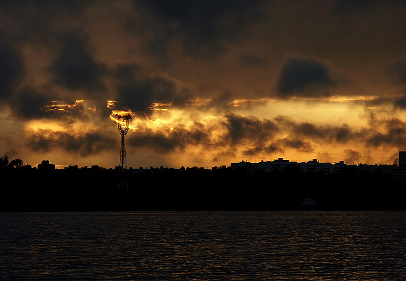 "photo ""Industrial Sunset"" tags: landscape, sunset"
