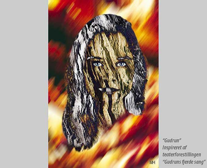 """photo """"Gudrun"""" tags: portrait, montage, woman"""