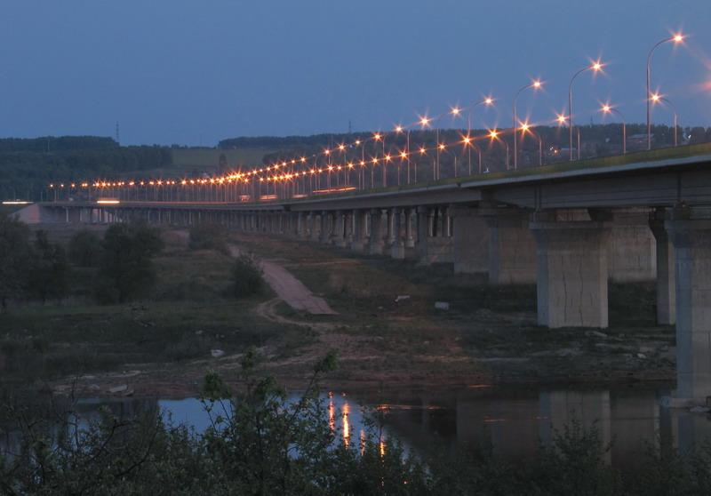 """photo """"the bridge"""" tags: landscape, architecture, night"""