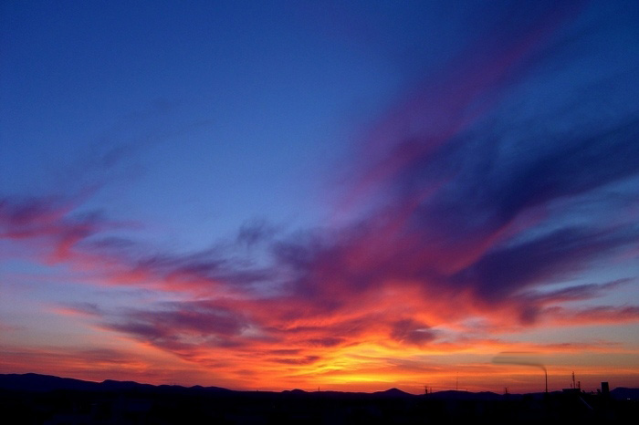 "photo ""rising"" tags: landscape, sunset"