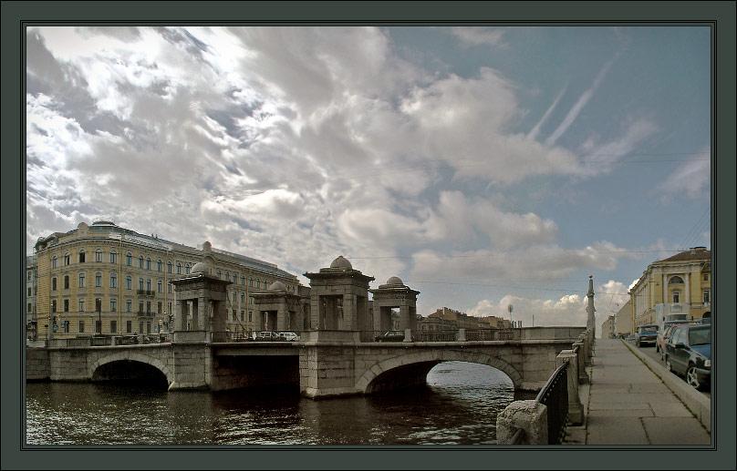 "photo ""Fontanka. Chernishev bridge"" tags: architecture, landscape, clouds"
