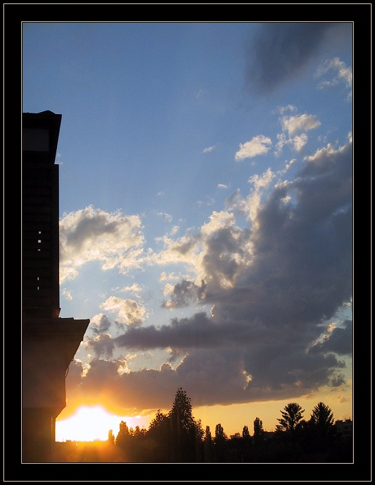 "photo ""A View Fom My Balcony"" tags: landscape, summer, sunset"