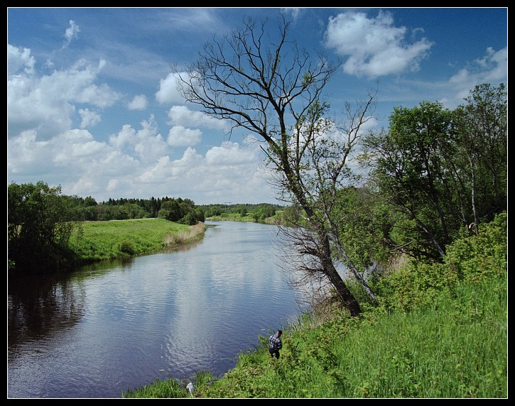 "photo ""Dubna river (variant)"" tags: landscape, summer, water"