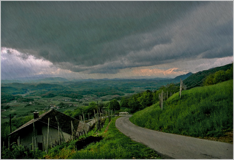 "photo ""On road with a rain"" tags: landscape, misc.,"