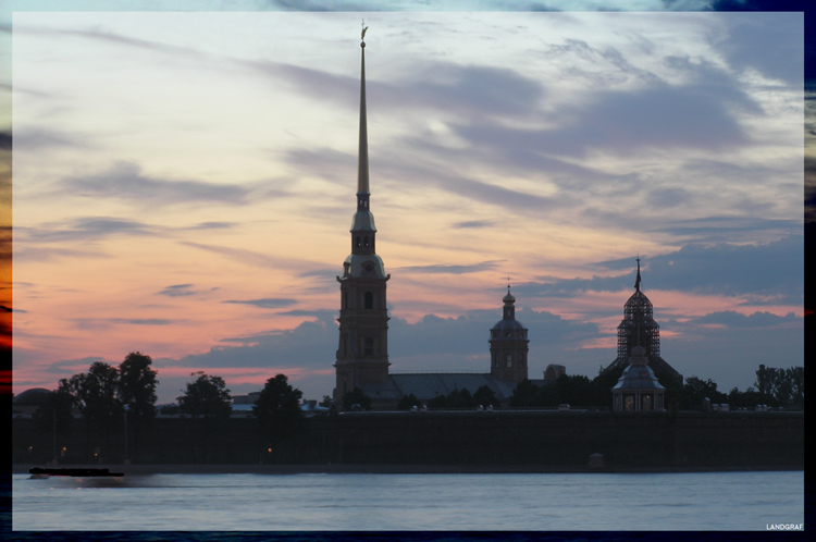 "photo ""The white nights in St.-Petersburg"" tags: architecture, landscape, night"