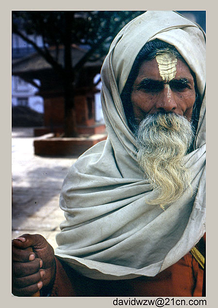 "photo ""Sadhu"" tags: travel, portrait, Asia, man"