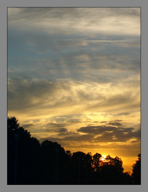 "photo ""The sunset"" tags: landscape, summer, sunset"