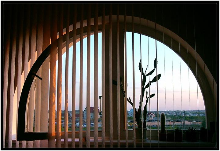"""photo """"jalousie"""" tags: misc., landscape, sunset"""