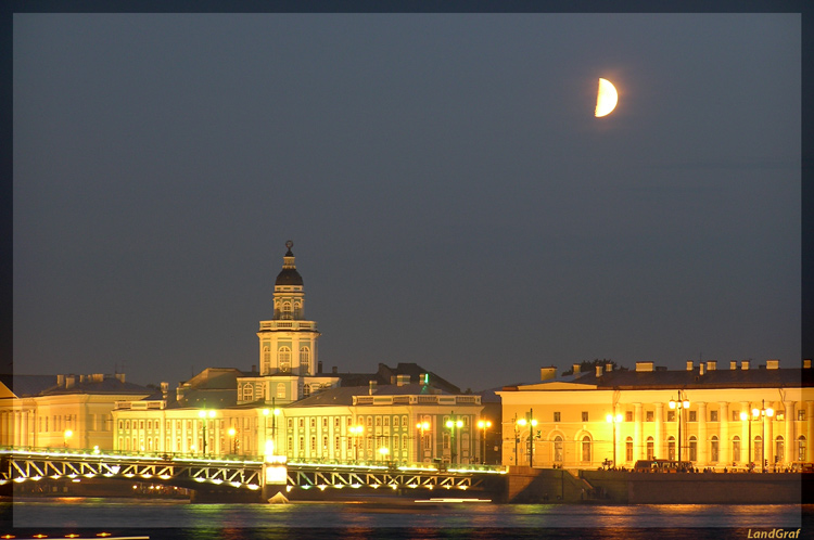 "photo ""The white nights in St.-Petersburg (2)"" tags: architecture, landscape, night"