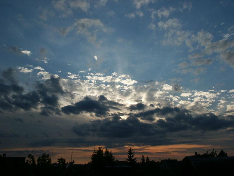 "photo ""Sunset sky"" tags: landscape, clouds, sunset"