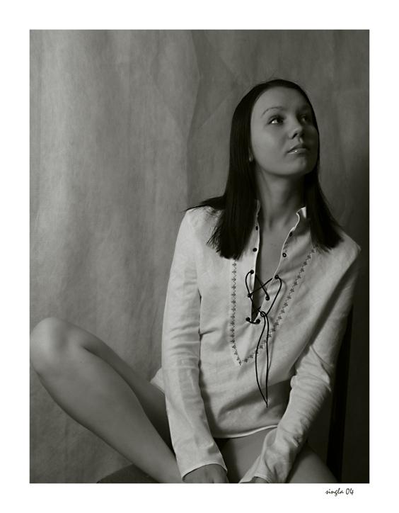 "photo ""# 38"" tags: black&white, portrait, woman"