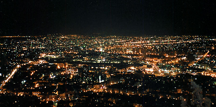 "photo ""Night Damascus"" tags: architecture, landscape, night"