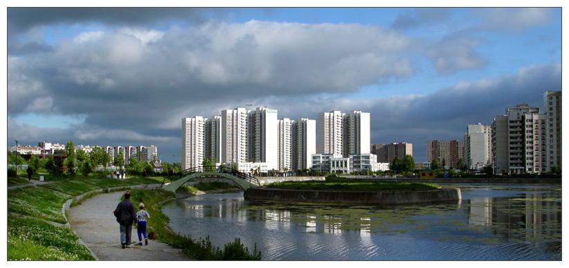 """photo """"City. Contrast."""" tags: architecture, landscape,"""