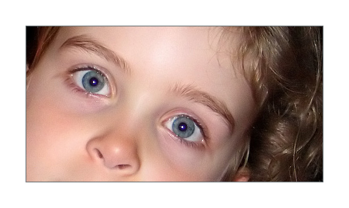 "photo ""Blue eyes girl"" tags: portrait, children"