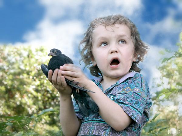 """photo """"Fly!!!"""" tags: portrait, genre, children"""