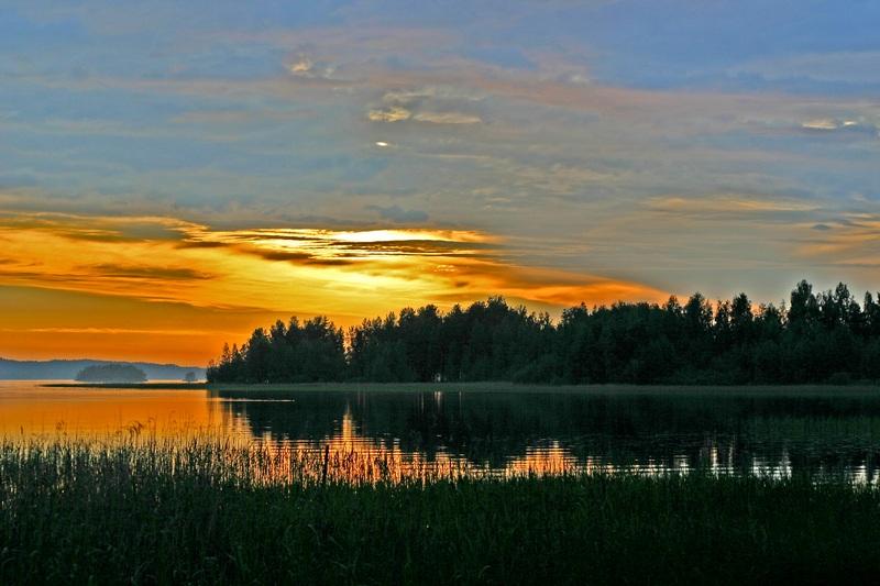 "photo ""Midsummer night, Finland, Ruhvana 25.6.04"" tags: landscape, summer"