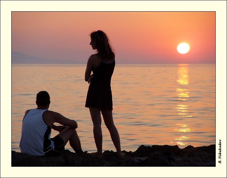 """photo """"Romantic sun"""" tags: landscape, portrait, sunset"""