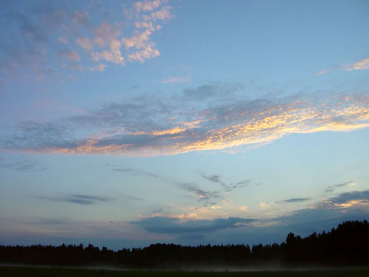 "photo ""New day begins"" tags: nature, landscape, clouds"