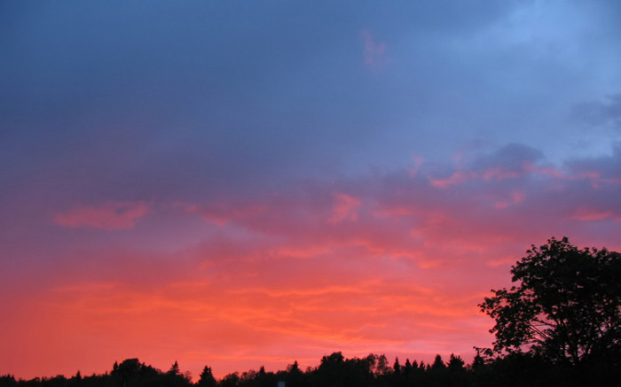 "photo ""Night before a bad weather"" tags: landscape, sunset"