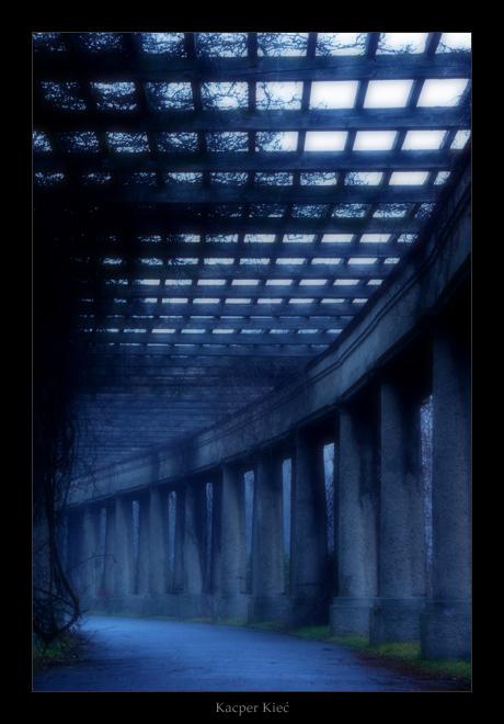 """photo """"pergola"""" tags: architecture, landscape, winter"""