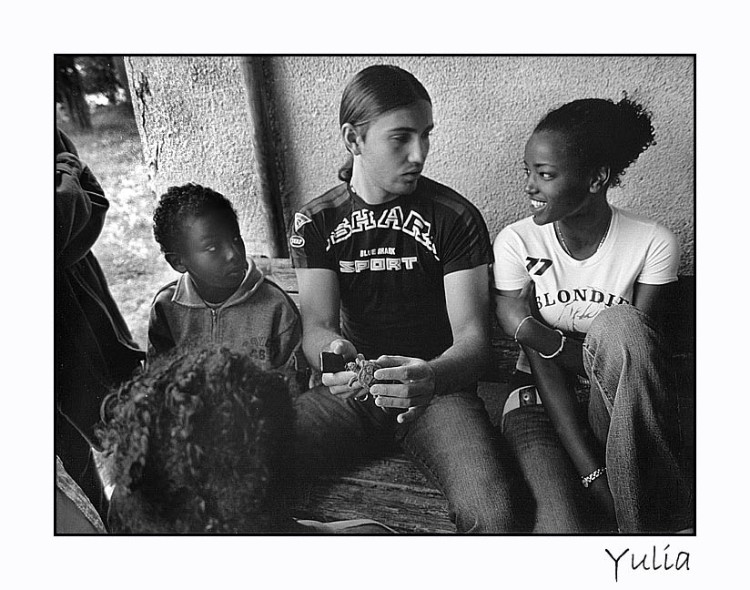 "photo ""Children Of The Hood (close up)"" tags: genre, black&white,"
