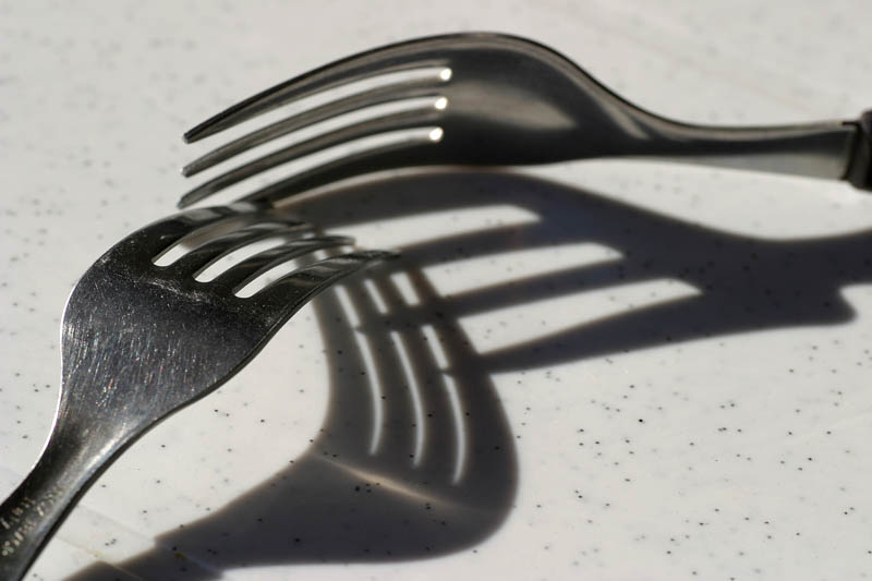 "photo ""Fork`s shadows"" tags: still life,"