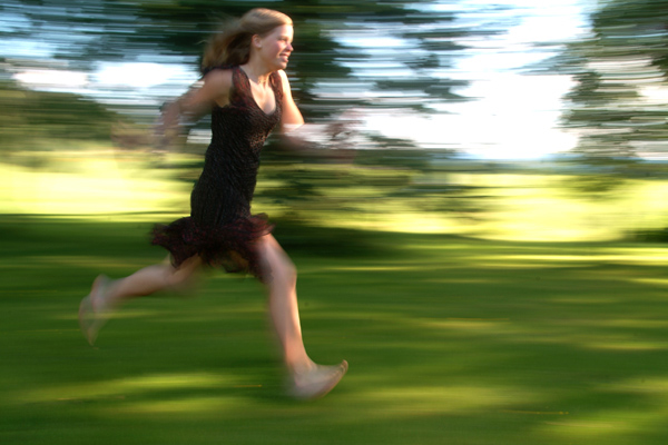 """photo """"Running into the future"""" tags: portrait, misc., woman"""